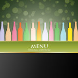 Vector wine list menu cover Royalty Free Stock Photos