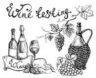 Vector wine set vector illustration