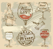 Vector wine Stock Photography