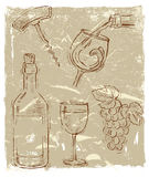 Vector wine Stock Images