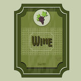 Vector wine ticket illustration eps Royalty Free Stock Images