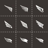 Vector wing icon set Royalty Free Stock Images