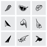 Vector Wing icon set Stock Photo