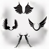 Vector wings Royalty Free Stock Photography