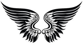 Vector wings illustration Stock Photos