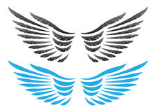 Vector wings illustration Stock Photo