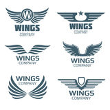 Vector wings logo set Royalty Free Stock Image
