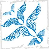 Vector Wings Set. Vinyl-ready illustration. Royalty Free Stock Photography