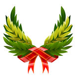 Vector wings wreath from green leafs Royalty Free Stock Photos