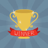 Vector  winner cup flat icon Royalty Free Stock Image