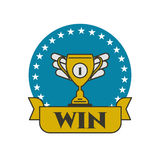 Vector winner Cup. Icon awards. Label, tag, badge of victory. Logo of  sports club, league team Stock Photo
