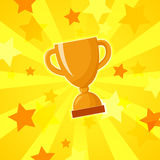 Vector winner cup light background Stock Images