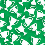 Vector Winner Cup Seamless Pattern. Sport background.  design Stock Image