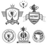 Vector winner logos Royalty Free Stock Photos
