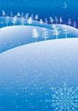 Vector winter abstract .Christmas. Blue Christmas postcard for text Stock Photography