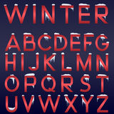 Vector winter alphabet. Stock Photos
