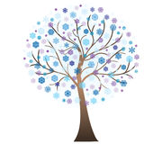 Vector winter art tree Royalty Free Stock Photo