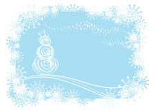 Vector Winter Background Stock Images