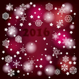 Vector Winter Background. 2016 Vector Winter purple Background Stock Photography