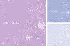 vector winter background of snowflakes Royalty Free Stock Photo