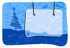 Vector winter blank. Christmas tree, background Royalty Free Illustration