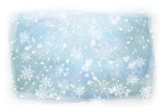 Vector winter,  blue, snowflakes background. Christmas background Stock Photography