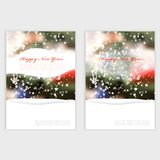 Vector Winter Christmas Blurred Glow Snowflakes. Stock Photography