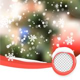 Vector Winter Christmas Blurred Glow Snowflakes. Stock Image