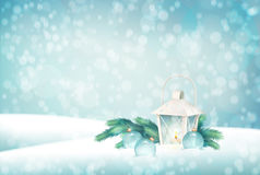 Vector Winter Christmas Scene Background Royalty Free Stock Photography