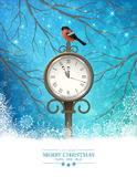 Vector Winter Christmas Scene Background Royalty Free Stock Photos