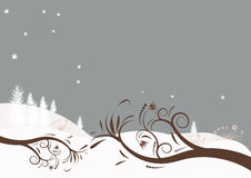 Vector winter design. Beautiful abstract vector winter design Royalty Free Stock Images