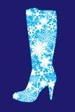 Vector winter footwear Stock Photo