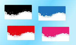 Vector winter four color cards Royalty Free Stock Photography
