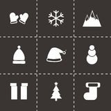 Vector winter icons set Royalty Free Stock Images