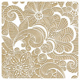 Vector  Winter Lacy Pattern Royalty Free Stock Photo