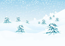 Vector winter landscape Royalty Free Stock Images