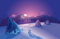 Free Vector Winter Landscape Royalty Free Stock Photography - 30405607