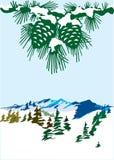 Vector winter landscape Stock Photos