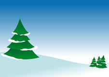 Vector winter landscape Stock Photography