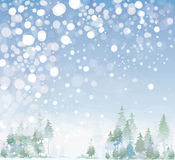 Vector of winter landscape. Royalty Free Stock Photos