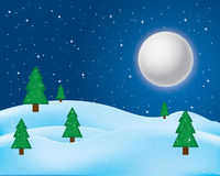 Vector of winter landscape. Royalty Free Stock Photo