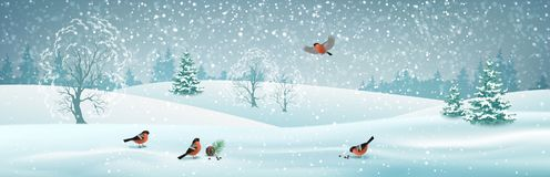 Vector Winter Landscape stock illustration