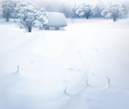 Vector winter landscape. Royalty Free Stock Images