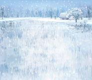 Vector winter landscape. Stock Photography