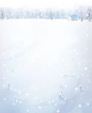 Vector winter landscape. Stock Photos