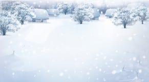 Vector winter landscape. Stock Photo