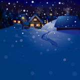 Vector of winter landscape. Merry Christmas! Royalty Free Stock Image
