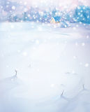 Vector winter landscape. Stock Photos