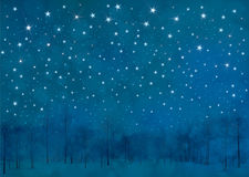 Vector winter night background. royalty free illustration