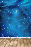 Vector Winter Nightly Clouds Background Royalty Free Stock Photo
